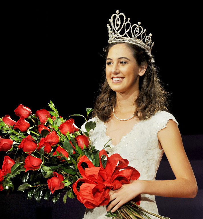 . Ana Marie Acosta, 17, who attends Polytechnic School  was name Tournament of Roses Announcement and Coronation of the 96th Rose Queen and Presentation of the 2014 Royal Court held at First Church of the Nazarene of PasadenaThursday, October 24, 2013. (Photo by Walt Mancini/Pasadena Star-News)
