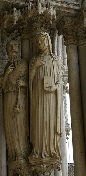 Chartres Cathedral North Porch High Priest and Prophetess