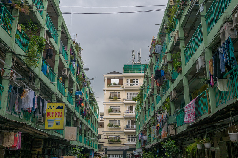 A traditional neighborhood in Ho Chi Minh City