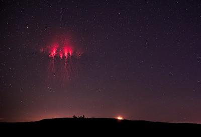 Red Sprites Lightning