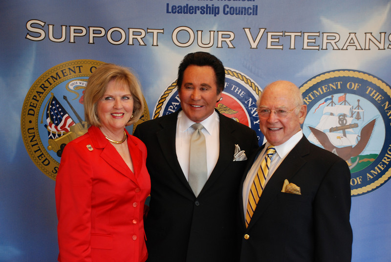 Tochia and Stan Levine with Wayne Newton