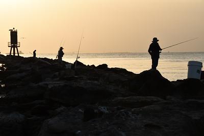 Galveston Fishermen at Sunset 7-16-2020