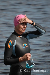 2009 Ottawa Riverkeeper Triathlon. Swimmer just prior to the start of the swimming stage of the triathlon.  © Rob Huntley