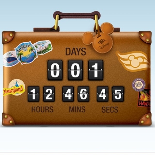 I think the clock is a little off...but the countdown for a warm family vacation has begun!
