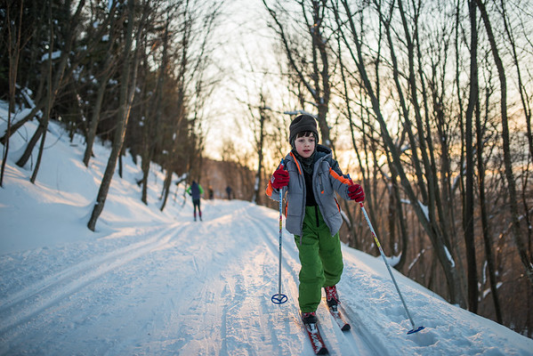 2-28 My Lad Skiing at White Grass