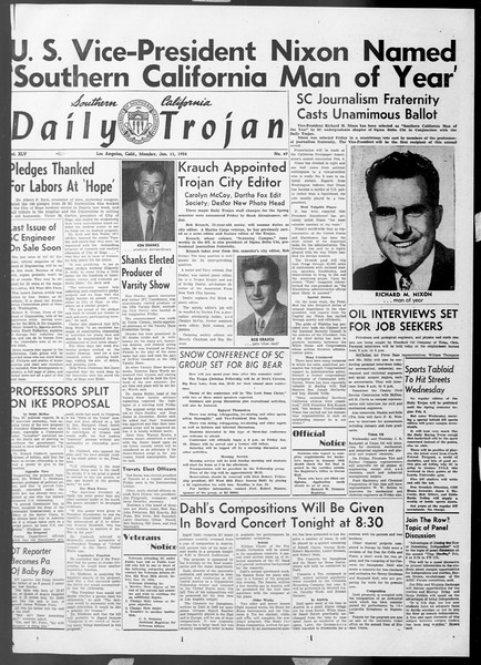 Daily Trojan, Vol. 45, No. 67, January 11, 1954