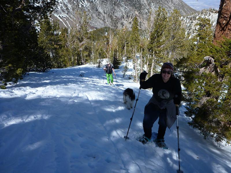 Climbing up to Tamarak Peak.