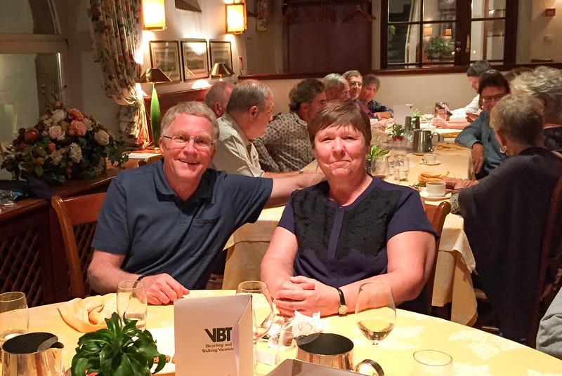 Doug & Barb at the farewell dinner.