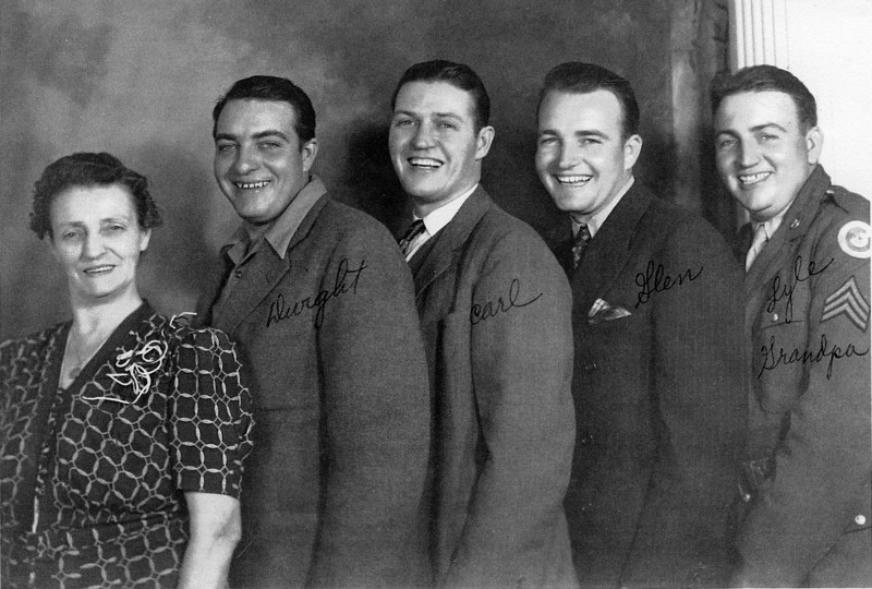 Annie with her four sons.