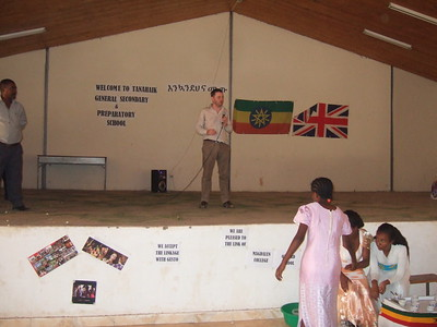 Magdalen College School staff are warmly welcomed by everyone at Tana Haik School