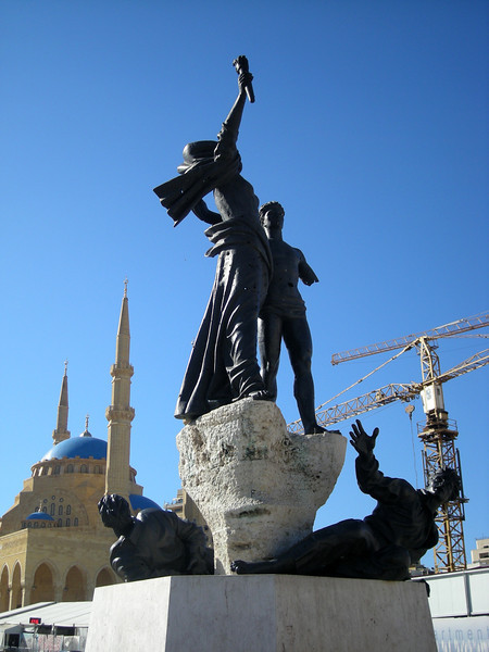 The Martyrs monument in Beirut