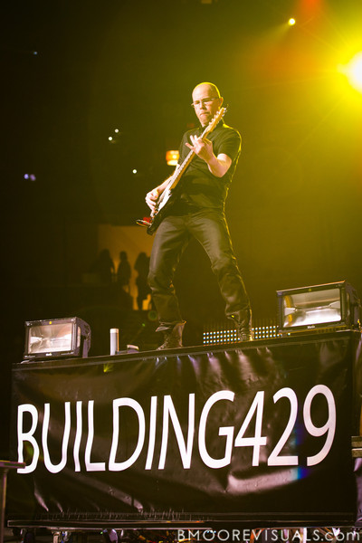 Scotty Beshears of Building 429 performs on January 14, 2012 during Winter Jam at Tampa Bay Times Forum in Tampa, Florida