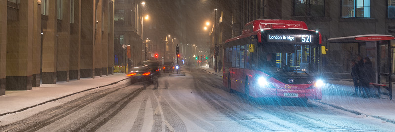 Snow in the City of London