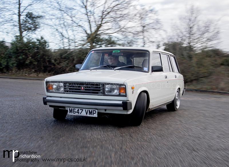 Drifting Lada, sideways tracking Client- Fast Car magazine