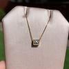 .70ct French Cut Diamond Bezel Pendant, 18kt Yellow Gold 18