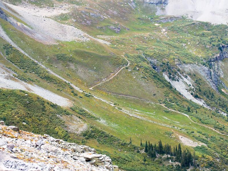 Jeep trail way down below