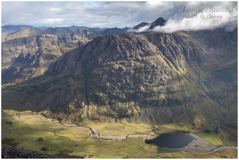 Bidean nam Bian and Loch Achtriochtan from Sgorr nam Fiannaidh