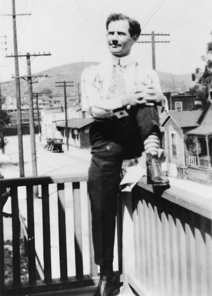 1917, Antonio Gutierrez on Porch