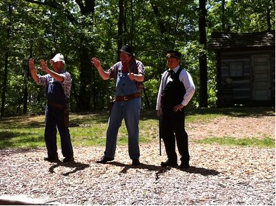 photos of me robbing/ conducting at Silver Dollar City