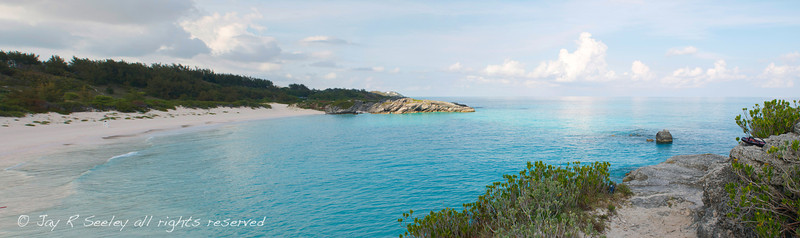 Panorama of Horseshoe bay, Bermuda