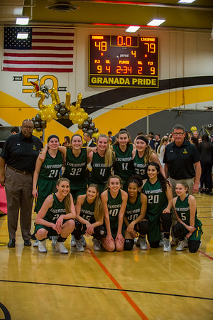 180213 GHS WOMEN'S BASKETBALL SENIOR NIGHT (LIVERMORE)