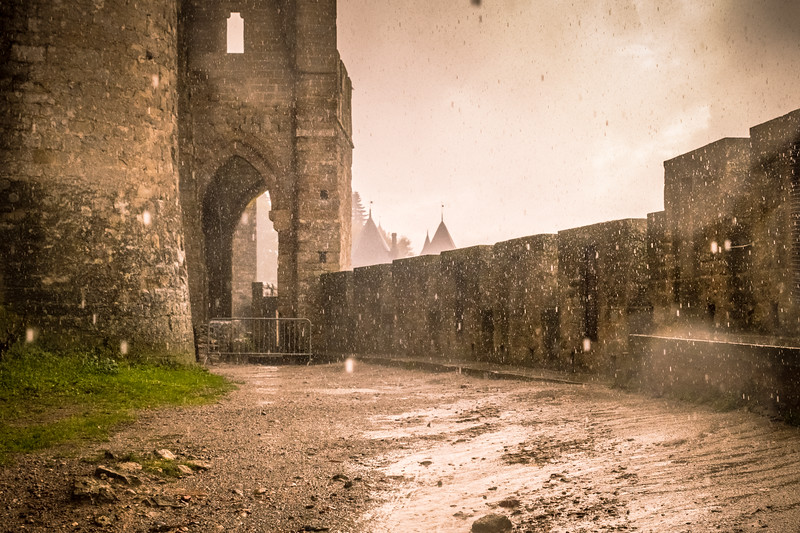 And it poured for a while in Carcasonne