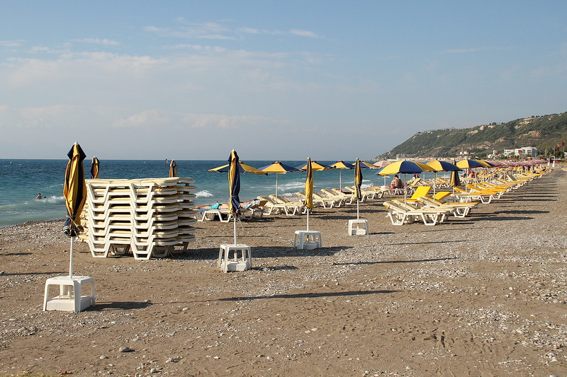Beach, just a few steps away from the Rodos Palace Hotel.