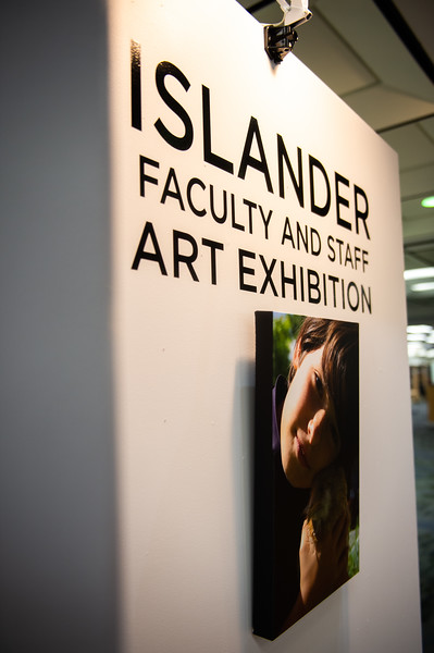 Mary and Jeff Bell Library host the Islander Faculty and Staff Art Exhibition on the first floor.