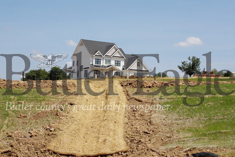 Cypress Fields construction site in Adams Township, photo taken July 2019. Seb Foltz/Butler Eagle