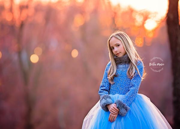 Outdoor Winter Child Portraiture
