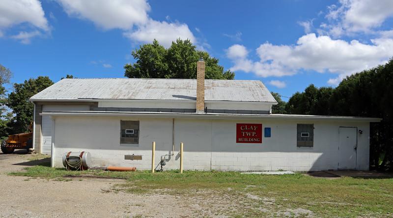 The Clay Township building in Gnadenhutten