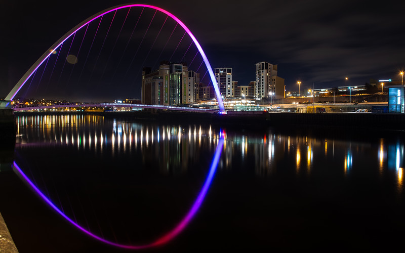 Gateshead Millennium Bridge and Baltic Quay