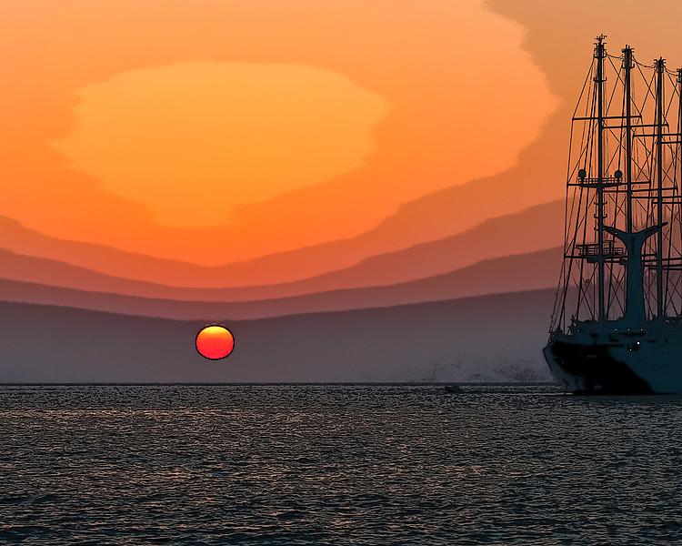Sinking sun - Greek Islands