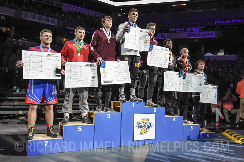 182 Podium: 1st Place - Carson Brewer of Avon 2nd Place - Andrew Donahue of Culver Academies 3rd Place - Evan Bates of Chesterton 4th Place - Levon Bellemy of Edgewood 5th Place - Mason Winner of Jay County 6th Place - Jake Lone of NorthWood 7th Place - Jalen Morgan of Elwood Community 8th Place - Bradley Rosman of Oak Hill