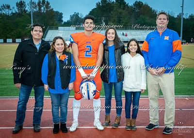 Senior Night Football, Cheerleader and Band 26 Oct 2018