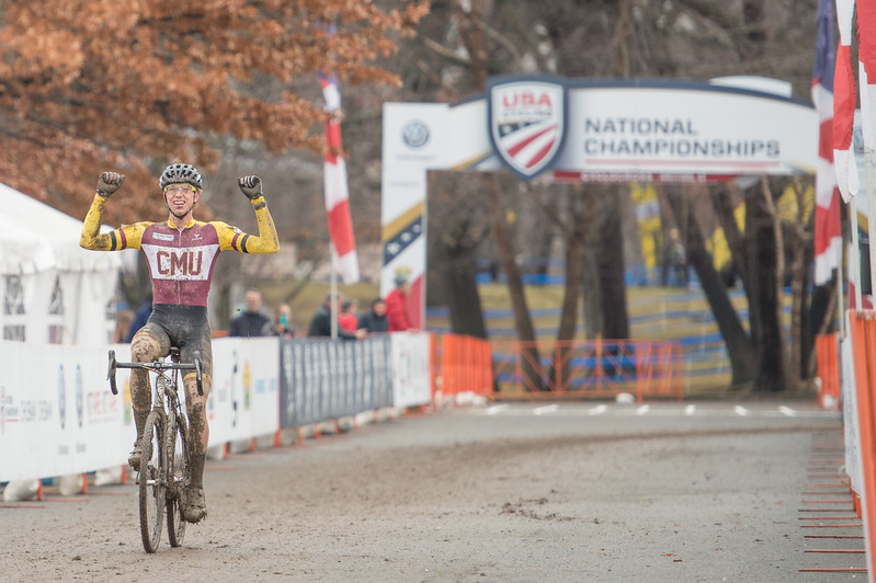 Brannan FIX. Winner Collegiate Men Varsity. 2017CXNats. Photo by Weldon Weaver,