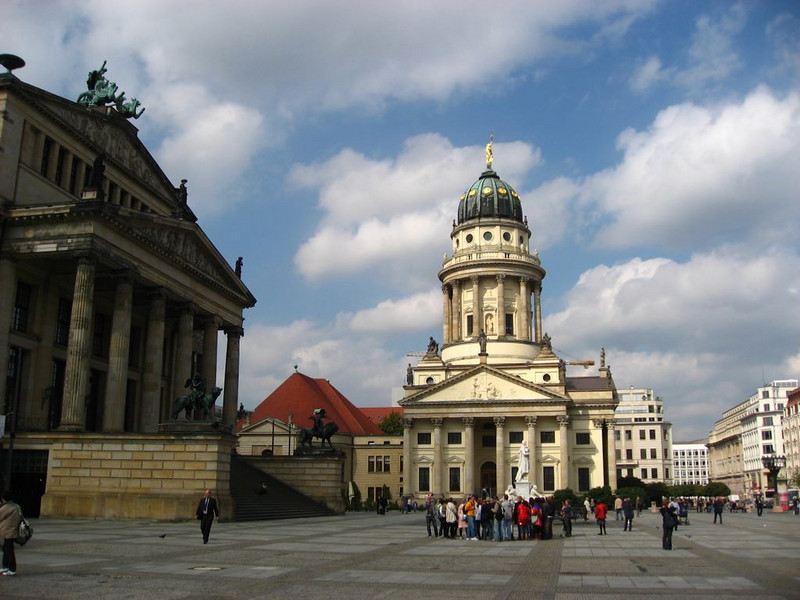 Gendarmenmarkt square, with the French and German cathedrals