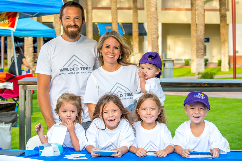 Family Photo at Cystic Fibrosis Stair Climb Event