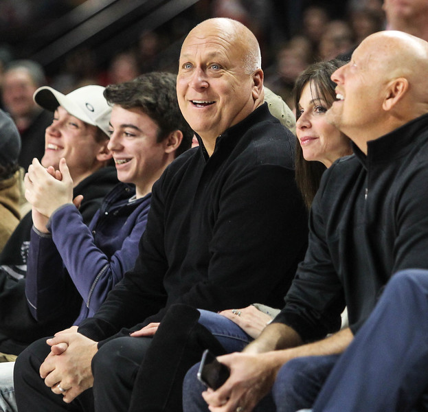 January 14, 2019: Baltimore Orioles legend Cal Ripken Jr enjoying the BIG Ten Men Basketball action between University of Wisconsin and University of Maryland in College Park. Photo by: Chris Thompkins/Prince Georges Sentinel