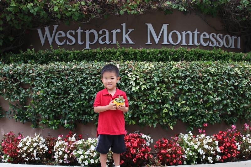 Matthew first day Montessori
