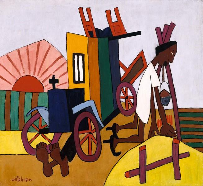 """William H. Johnson, """"The Breakdown"""" (ca 1940-41)"""