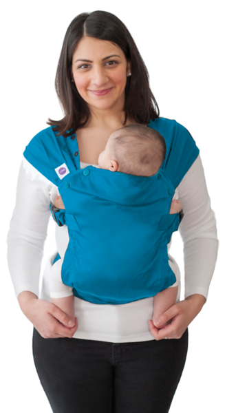 Izmi_Baby_Carrier_Cotton_Teal_Product_Shot_With_Mum_And_Baby.png