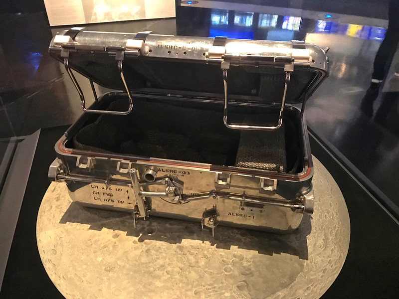 rock box....one of two. Apollo 11. It had like 47 pounds of rocks. Space Center Houston.