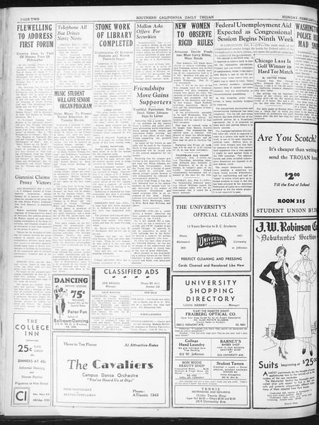 Daily Trojan, Vol. 23, No. 83, February 08, 1932