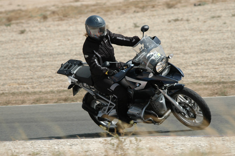Photo3: German born (Trier, Mosel) Ellen, living in Valencia, Spain and her R1200GS