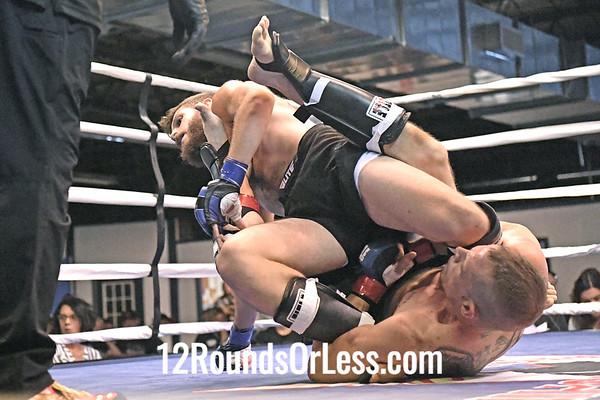 Bout #2: Ammy MMA, Kyle Baker, Blue Wrist Wraps, 156 Lbs -vs- Ryan Joseph McClure, Red Wrist Wraps, 161 Lbs