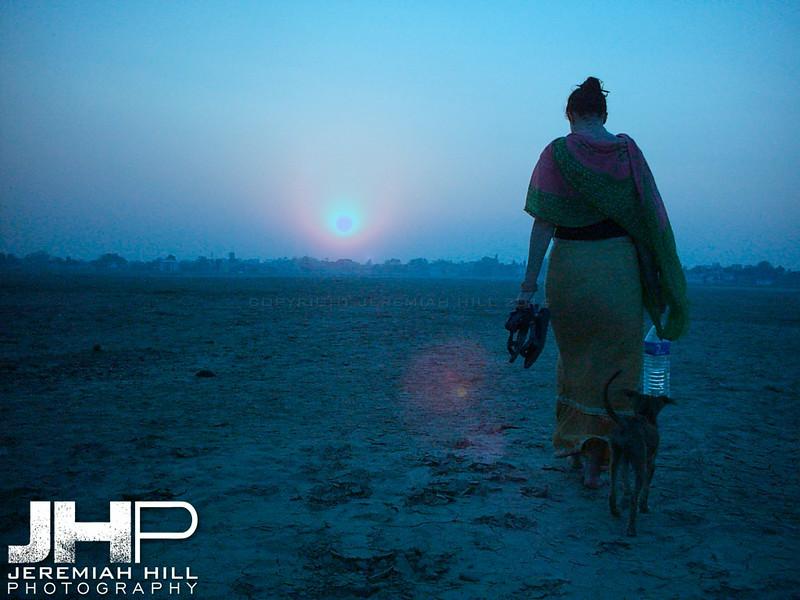 """Blue Fire Sky"", Varanasi, Uttar Pradesh, India, 2005 Print INDIA8-61V3"