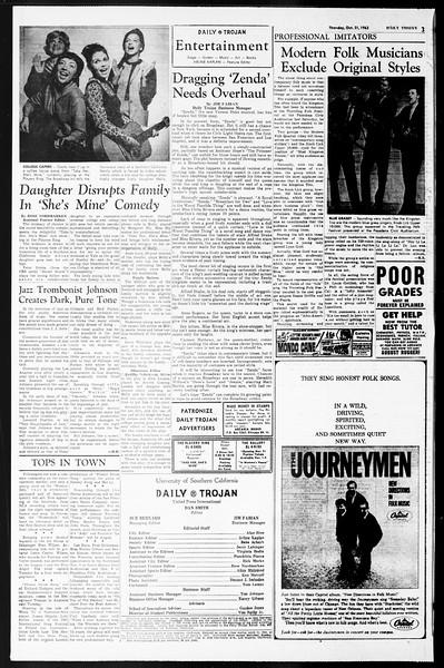 Daily Trojan, Vol. 55, No. 28, October 31, 1963