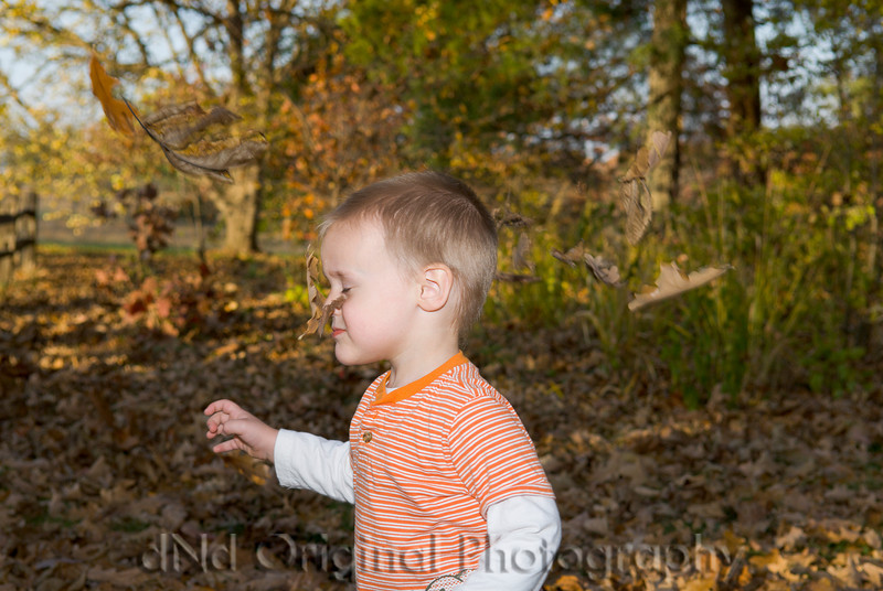 060 Wiley Family At Shaw - Ian Playing In Leaves.jpg