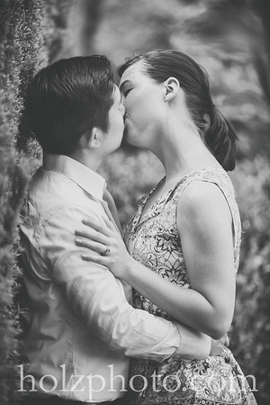 Laura & Patrick B/W Engagement Photos